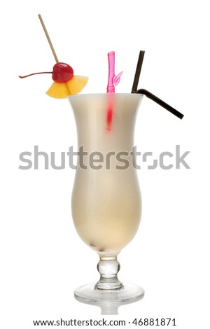 Coctail isolated over white background - stock photo
