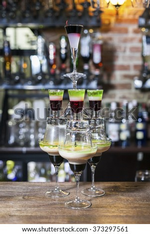 coctail pyramid
