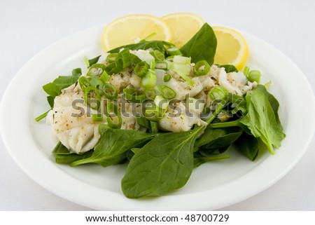 Cod Fish Salad - stock photo