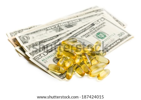 Cod liver oil. Gel capsules with dollars