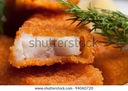 Cod sticks - stock photo