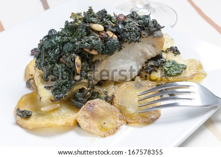 Cod with vegetables - stock photo
