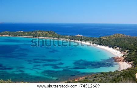 Coda Cavallo Beach - Sardinia - stock photo