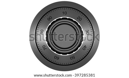 Code lock - 3D Rendering - stock photo