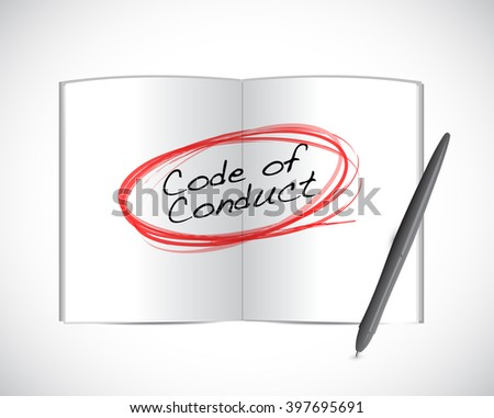 code of conduct book selection illustration design graphic