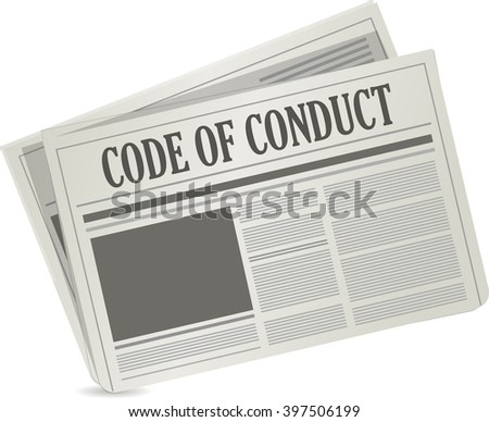 code of conduct newspaper illustration design graphic over white