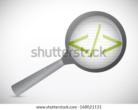 code under review concept illustration design over a white background - stock photo