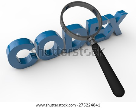 Codex - 3D Text over white Background - stock photo