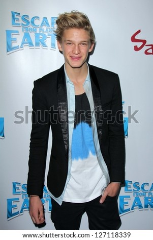 "Cody Simpson at the ""Escape From Planet Earth"" Premiere, Chinese 6 Theater, Hollywood, CA 02-02-13 - stock photo"