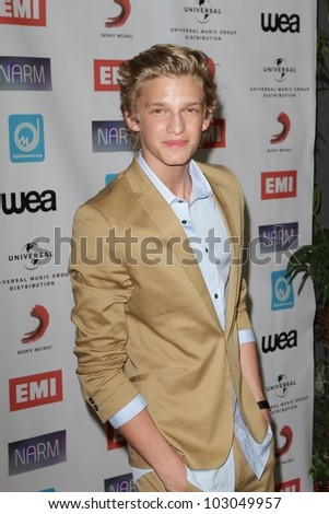 Cody Simpson at the NARM Music Biz Awards Dinner Party, Century Plaza Hotel, Century City, CA 05-10-12