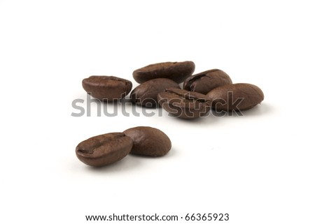 cofee bean isolated on white - caffe espresso