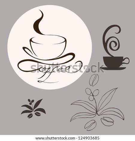 Cofee design elements - stock photo