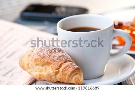 Coffe break at work - stock photo