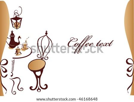 Coffe cafe background - stock photo