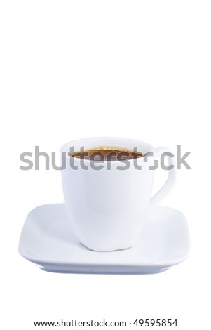 coffe espresso isolated on white background - stock photo