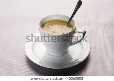 coffe in a white cup