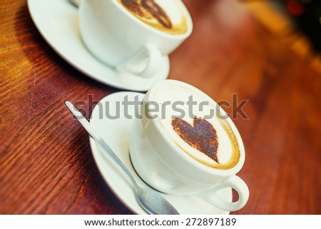 Coffe shop cafe Interior with Christmas mood - stock photo