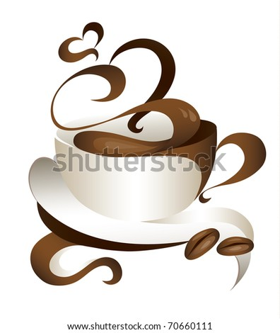 coffee (also available vector version of this image) - stock photo