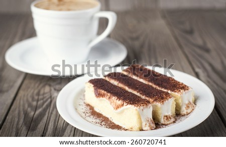 Coffee and cake as a background. Concept and idea