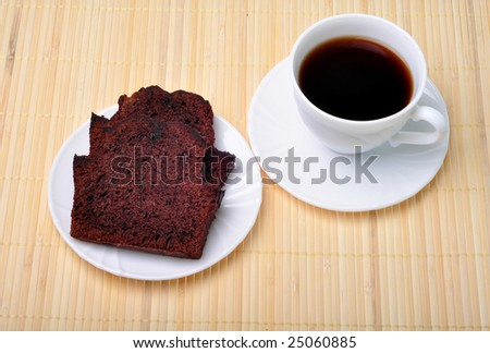 Coffee and cake - tasty tea - stock photo