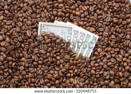 Coffee and Cash - stock photo