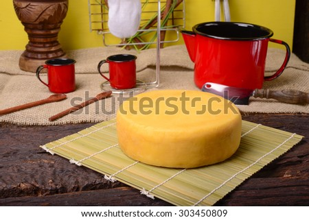Coffee and Cheese - stock photo