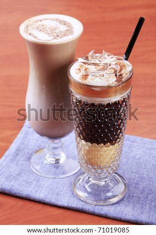 Coffee and chocolate drinks - stock photo