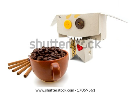 Coffee and cigarettes are dangerous for heart health - stock photo
