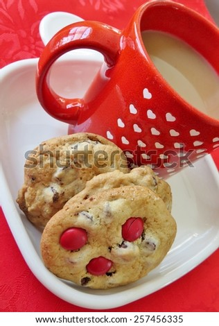 Coffee and cookies for Valentines