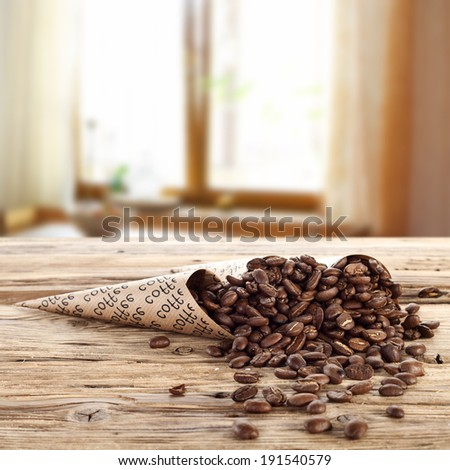 coffee and desk  - stock photo