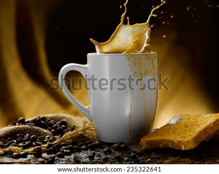 Coffee and milk - stock photo