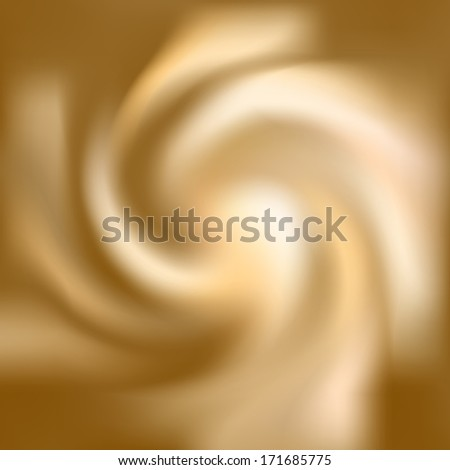 Coffee and milk cream texture. Cream swirl background - stock photo