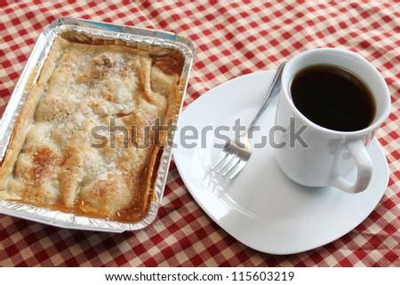Coffee and pie - stock photo