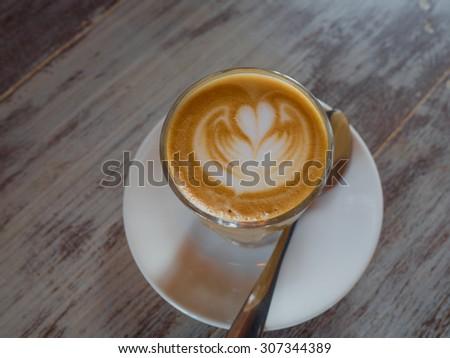 coffee art - stock photo