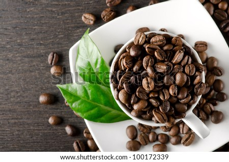 Coffee background with place for text - stock photo
