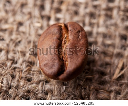 Coffee background with roasted bean