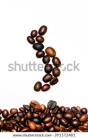 coffee background with roasted coffee beans