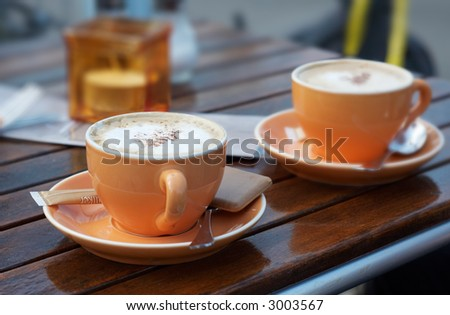 coffee background with trendy colors - stock photo