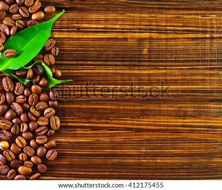 coffee backgrounds - stock photo