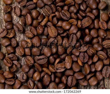 coffee bean background - stock photo