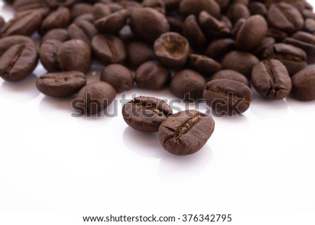 Coffee bean isolated on white background