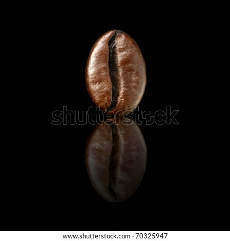 coffee bean on a black background - stock photo