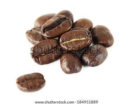 Coffee Bean on a white background