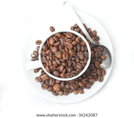coffee bean on cup