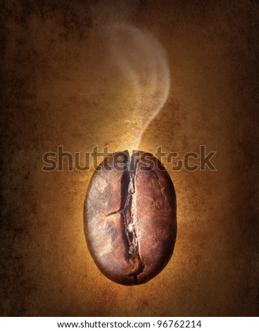 coffee bean on vintage background. - stock photo