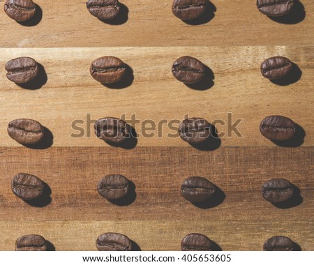 Coffee bean pattern  - stock photo