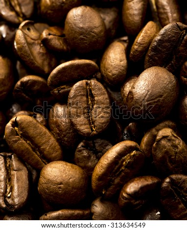 Coffee Beans as background