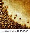 Coffee Beans Border Design - stock photo