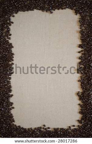 Coffee beans border with space for copy. - stock photo