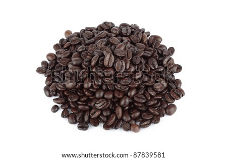 Coffee Beans Cutout - stock photo
